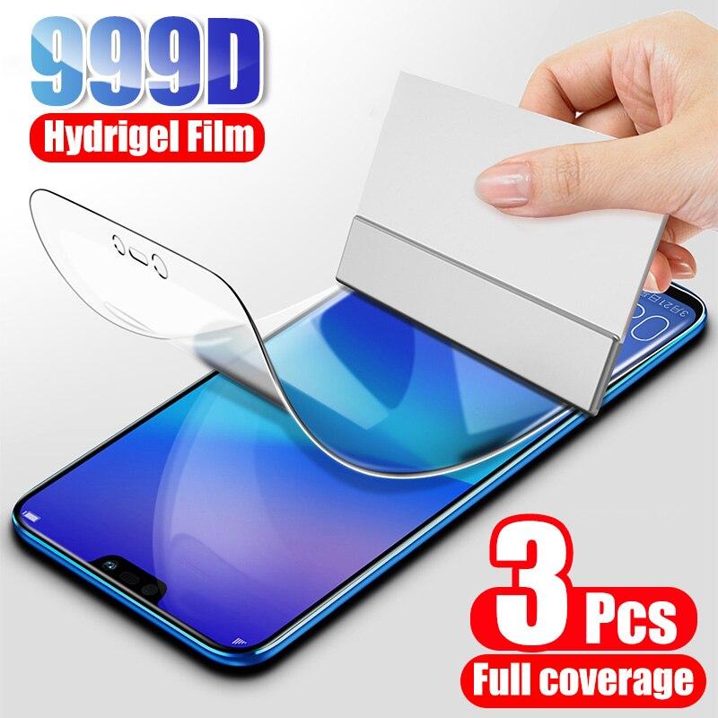 Защитная пленка для экрана, Гидрогелевая пленка для Huawei P20 P30 Lite Pro P40 P smart 2019, Защитная пленка для Honor 10 Lite 9 8X 9X, пленка, 3 шт.