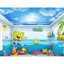 3d papel de parede do bebê piscina dos desenhos animados subaquático mundo oceano tema do quarto das crianças auto adesivo papel parede