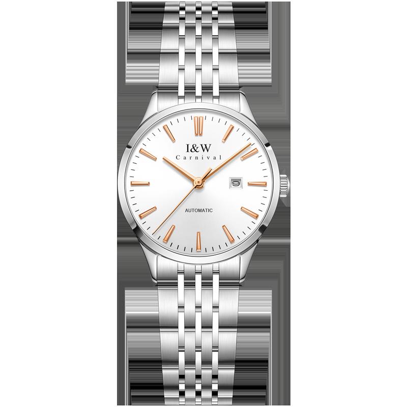 Original Switzerland I&W Women Watches MIYOTA Movement Automatic Watch Waterproof Calendar Sapphire Stainless Steel Reloj Mujer