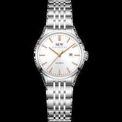 Originale Svizzera I & W Delle Donne Orologi MIYOTA Movimento Automatico Orologio Da Polso Impermeabile Calendario Zaffiro Acciaio Inox Reloj mujer