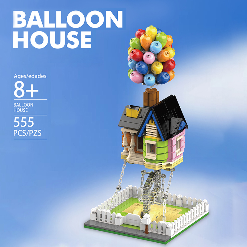 Mailackers Creator Expert Architecture Flying Balloon House Tensegrity Sculptures Modular City Building Blocks Creator House Toy 7