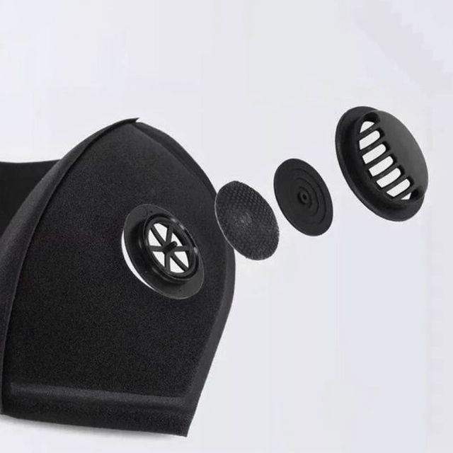 1pc Unisex Black Anti Dust Mask PM2.5 Breathing Filter Valve Face Mouth Masks Reusable Mouth Cover Haze Respirator 3
