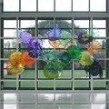 2020 Горячая продажа Ручная выдувная стеклянная настенная художественная тарелка муранские стеклянные тарелки для настенного подвешивания ...