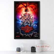 Stranger Things New Season TV Series Canvas Painting Posters And Prints Pictures On The Wall Vintage Decorative Home Decor(China)