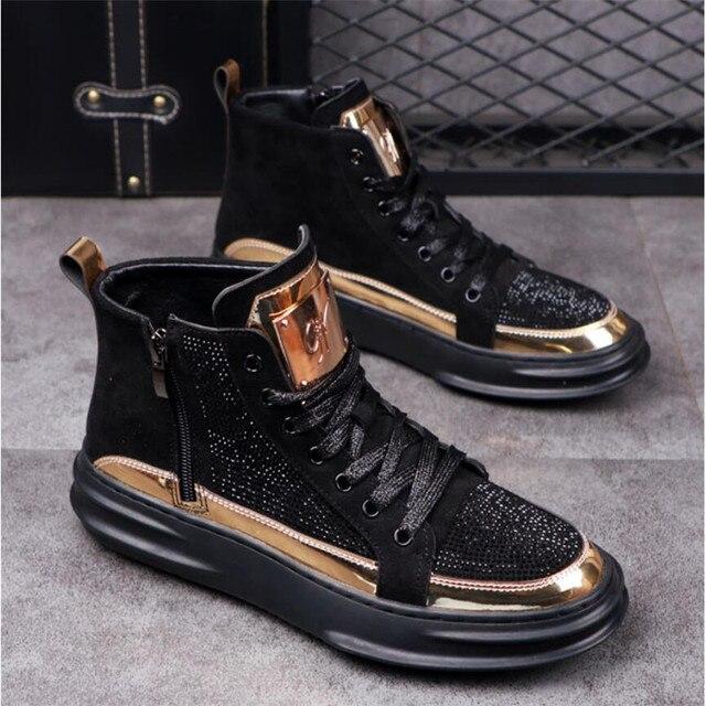 Zapatos informales transpirables para hombre, zapatillas planas de estilo Hip Hop Punk, a la moda, novedad de 2020 4