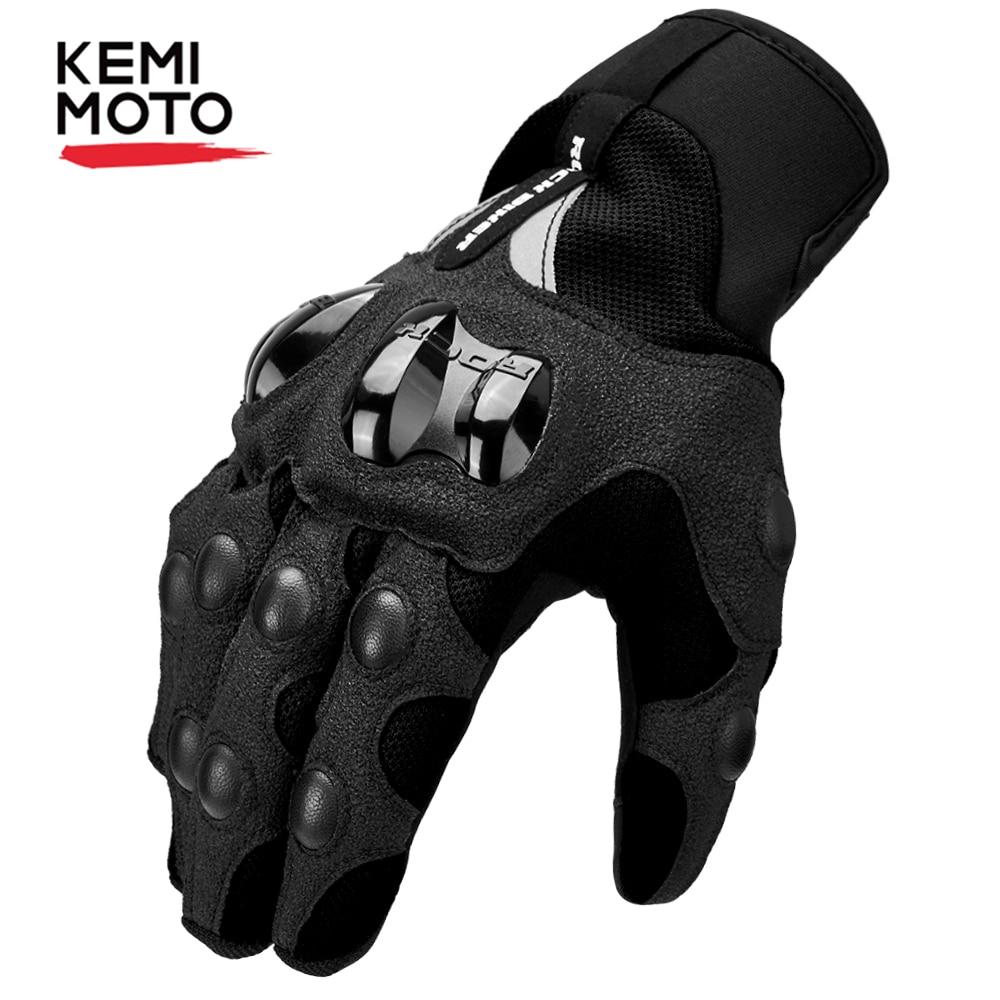 KEMiMOTO Motorcycle Gloves Men Cycling Mountain Bike Guantes Motocross Luvas Touch Screen Moto Gloves Men Spring Summer Winter