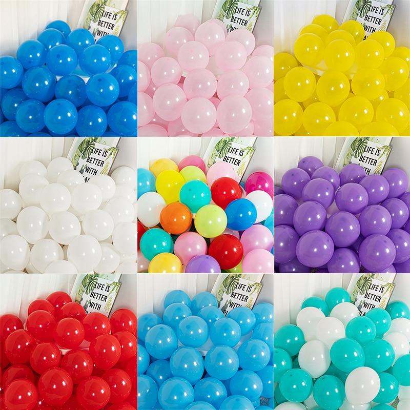 100 шт., латексные воздушные шары