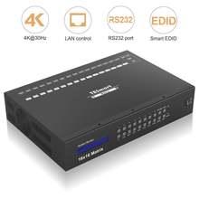 Tesmart ultra hd 16x16 hdmi матричный видеопереключатель 16