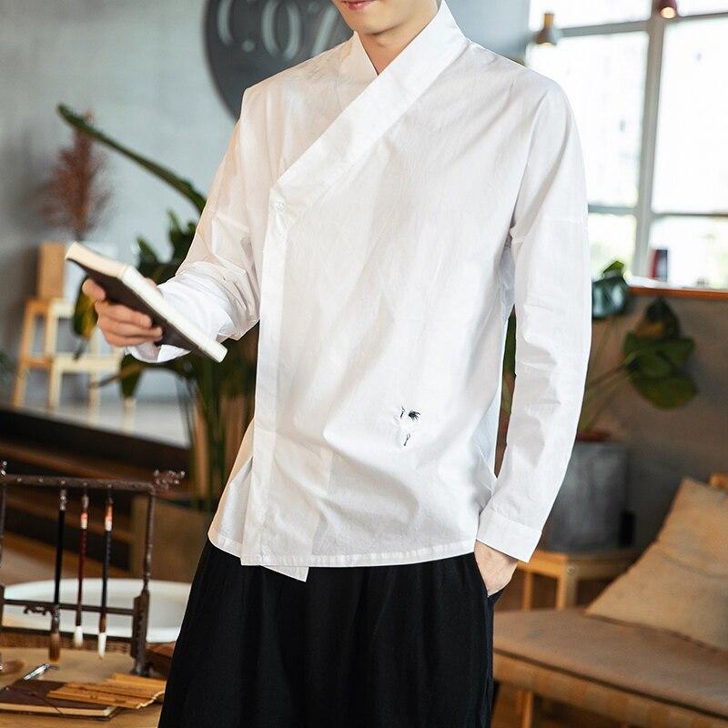 Кимоно с длинным рукавом в традиционном китайском стиле, Японская уличная одежда, винтажные рубашки размера плюс, Китайская Одежда XXXXXL