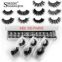 20/30/40/50/100 paires gros cils de vison naturel long fait à la main 3d cils maquillage extension de cils faux cils en vrac