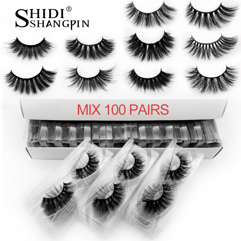 20/<font><b>30</b></font>/40/50/100 <font><b>pairs</b></font> wholesale mink <font><b>eyelashes</b></font> natural long handmade 3d lashes makeup <font><b>eyelash</b></font> extension faux cils in bulk image
