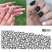 цена на 1 Sheet Leopard Pattern Nail Art Water Transfer Stickers Decals Full Wraps Manicure DIY Nail Art Tips Decoration Accessories