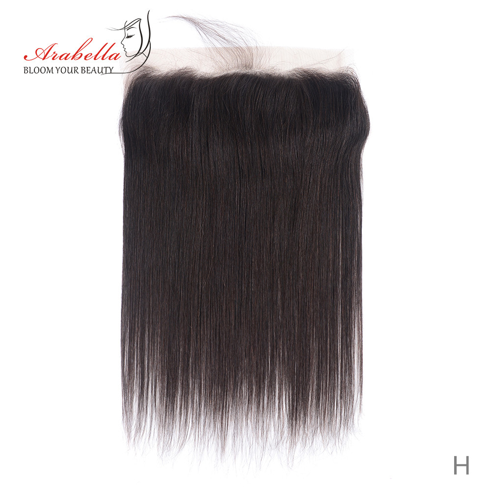 Transparent 13x4 Lace Frontal Straight Hair Natural  Arabella PrePlucked Bleached Knots Lace Frontal Closure 2