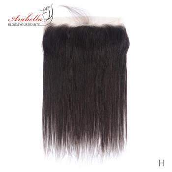 Koronkowe przednie brazylijskie proste włosy 13*4 ucho do ucha naturalny kolor Remy ludzkie włosy Arabella wstępnie oskubane koronkowe przednie zamknięcie tanie i dobre opinie Remy włosy CN (pochodzenie) 13 x 4 Brazylijski włosy Ręka wiążący Swiss koronki 1 sztuka tylko Średni brąz Pure color