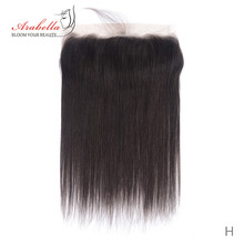 Lace Frontal Brazilian Straight Hair 13*4 Ear To Ear Natural Color Remy Human Hair Arabella Pre Plucked Lace Frontal Closure