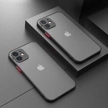 Stoßfest Rüstung Matte Fall Für iPhone 12 11 Pro Max XS XR Kamera Objektiv Schutz Abdeckung auf iPhone 7 6s 8 Plus SE 2020 Fall