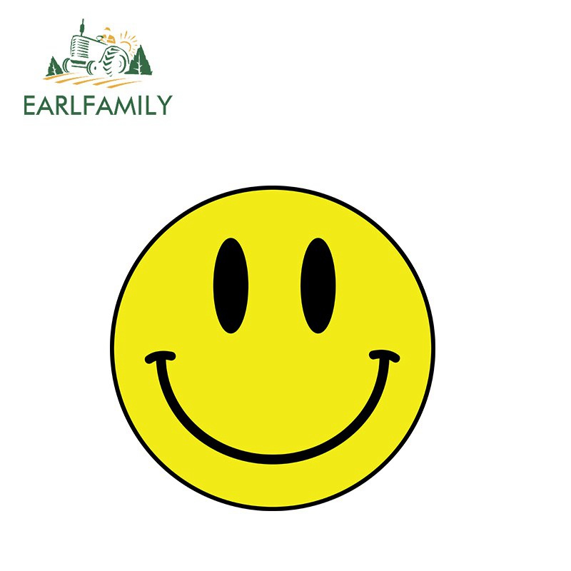 "5/"" SMILE MORE vinyl decal car window laptop sticker smiley happy face"