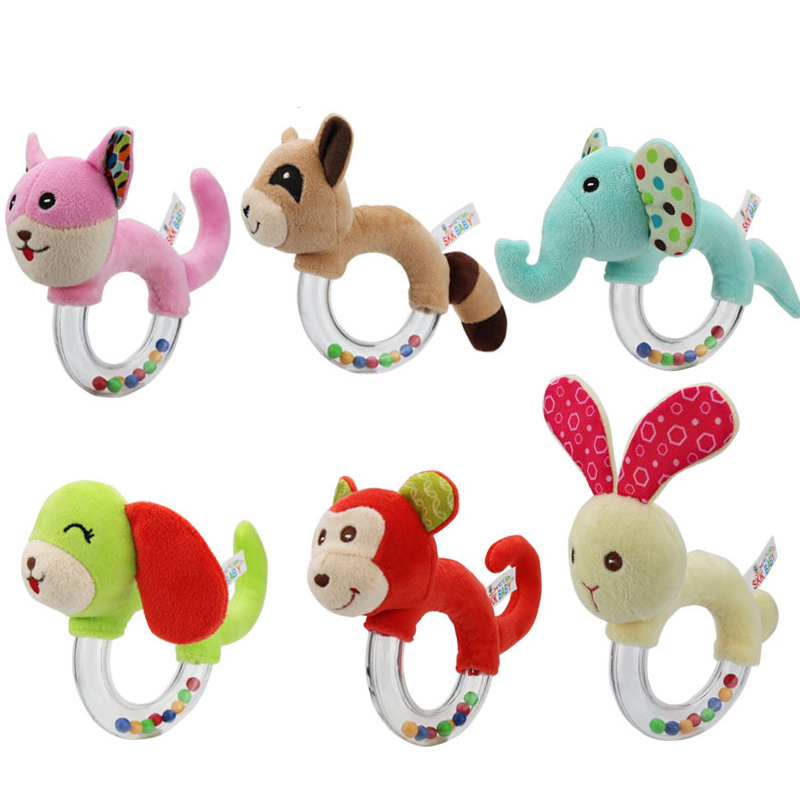 Newborn Baby Toys 0-12 Months Animal Baby Boy Girl Rattles Hand Bell Teether Infant Toddler Plush Toys Enfant