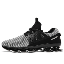 Men's Sport Running Shoes 2019 Lace-up Exercise Couple Sneakers Breathable Mesh Letter Shoes Size 36-48 Sneakers for Men BLACK 2018 new balance nb574 ms574 breathable sneakers badminton shoes for men and women lace up mesh sport shoes size 36 44 x