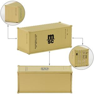 Image 5 - 3 sztuk mieszane różne w skali N pojemnika na stopy 20 1:150 20ft kontener Wagon towarowy Wagon C15007 Model akcesoria