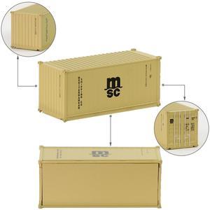 Image 5 - Contenedor de 20 pies de escala N mixto, contenedor de envío de 1:150 20 pies, accesorio de modelo, 3 uds.