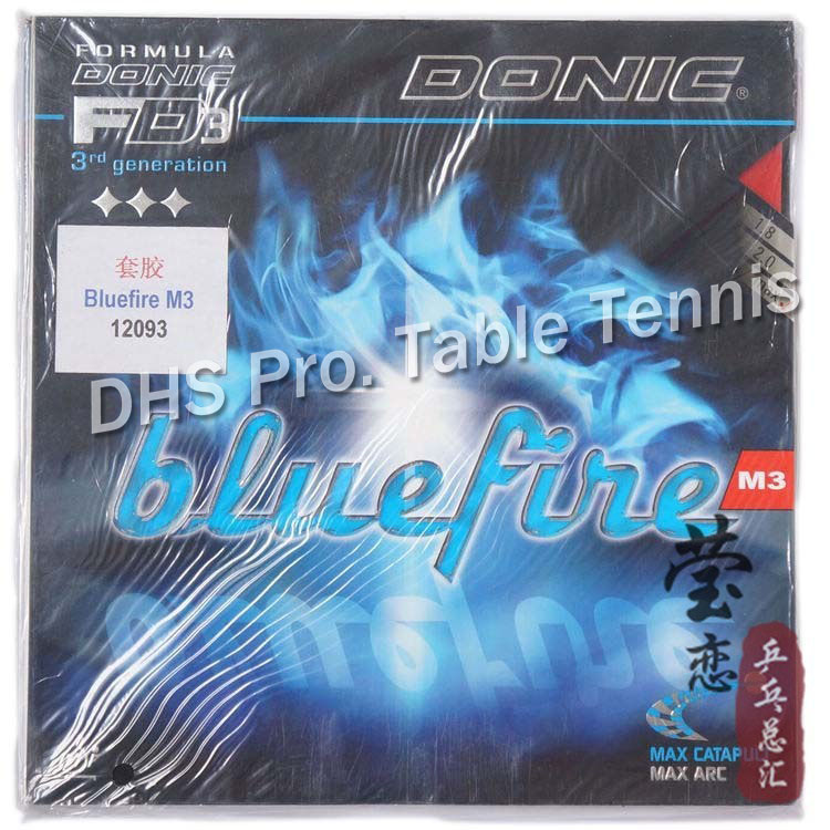 Donic Original Blue Fire M3 Bluefire Pips-in BLUE SPONGE Table Tennis Rubber Strong Spin Pimples In Ping Pong Rubber