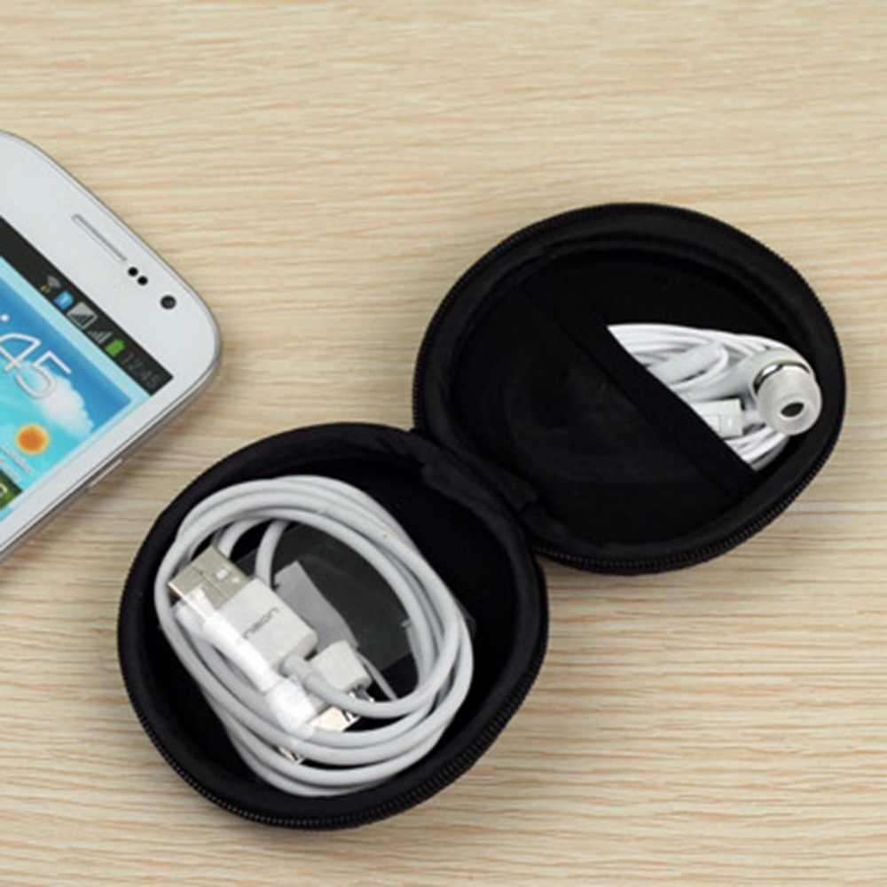 1 pc trwała EVA czarny przenośny przenoszenie twardy uchwyt schowek na okulary torba na słuchawki słuchawki karta pamięci dla łatwego podróży