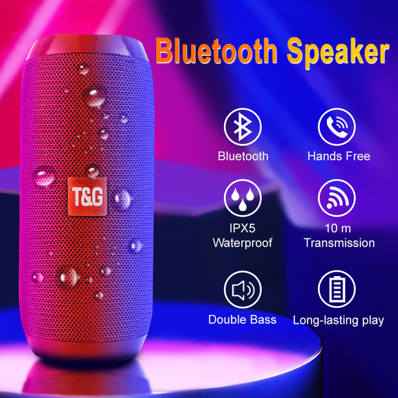 Waterproof Bluetooth Speaker Portable Wireless Speakers Subwoofer Outdoor Loudspeaker