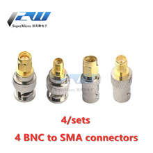 4pcs/lot BNC To SMA Connectors Type Male Female RF Connector
