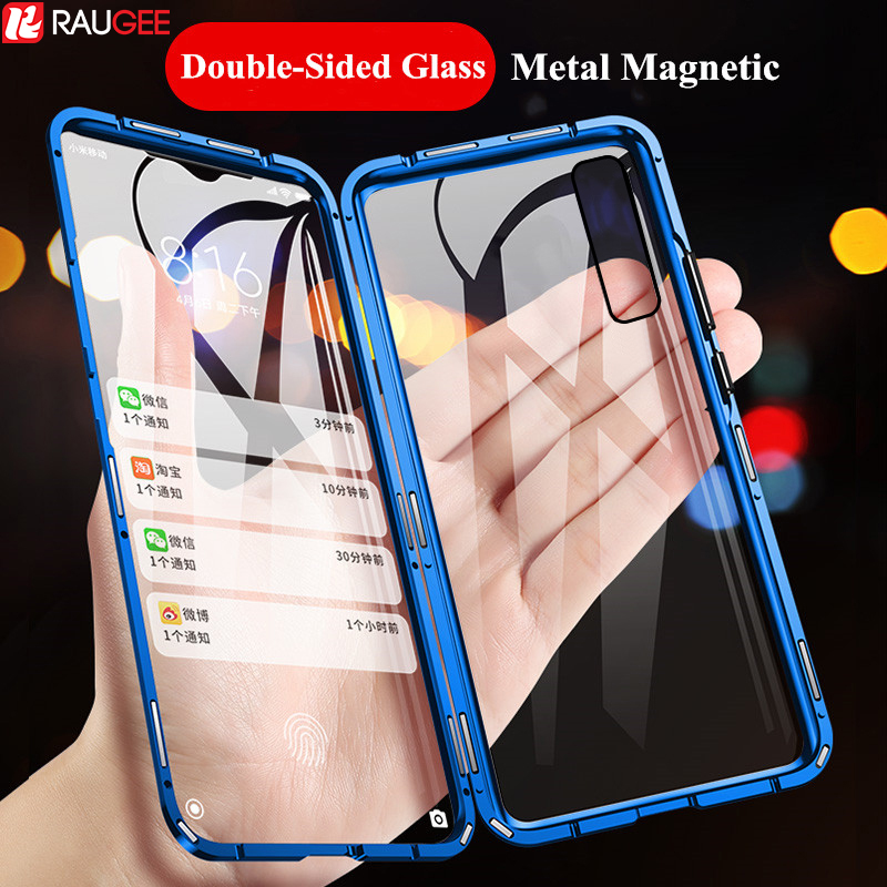 Magnetic <font><b>Case</b></font> for <font><b>Samsung</b></font> A50 A70 A30S <font><b>A40</b></font> <font><b>Case</b></font> Double-Sided <font><b>Glass</b></font> Full Protect <font><b>Case</b></font> on for <font><b>Samsung</b></font> Galaxy A50 A70 A30S <font><b>A40</b></font> <font><b>Case</b></font> image