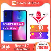 In Magazzino Globale ROM Xiaomi Redmi 7 3GB 32GB Smartphone Snapdragon 632 4000mAh Batteria 6.26 Display 12 + 2MP Dual Camers 2 + 1 Carta