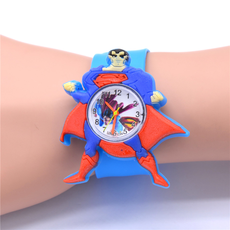 Children's Watches 3D Superman Cartoon Watch Casual Boys Sports Quartz Watches Kids Wristwatch Clock Relogio Montre Enfant Reloj