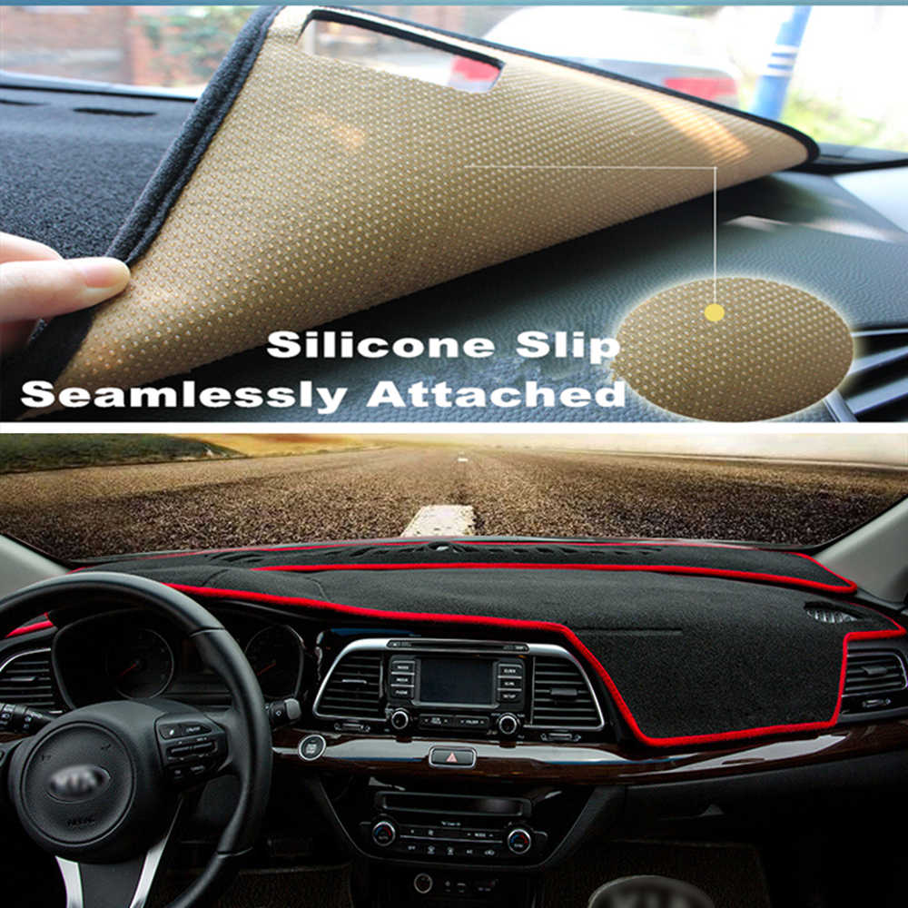 SJ Luxurious Custom Fit Anti-Slip Car Interior Auto Placa do Traço Mat Pad Cover Dashboard Sun Sombra Para Toyota tundra 2014 15 16 2017