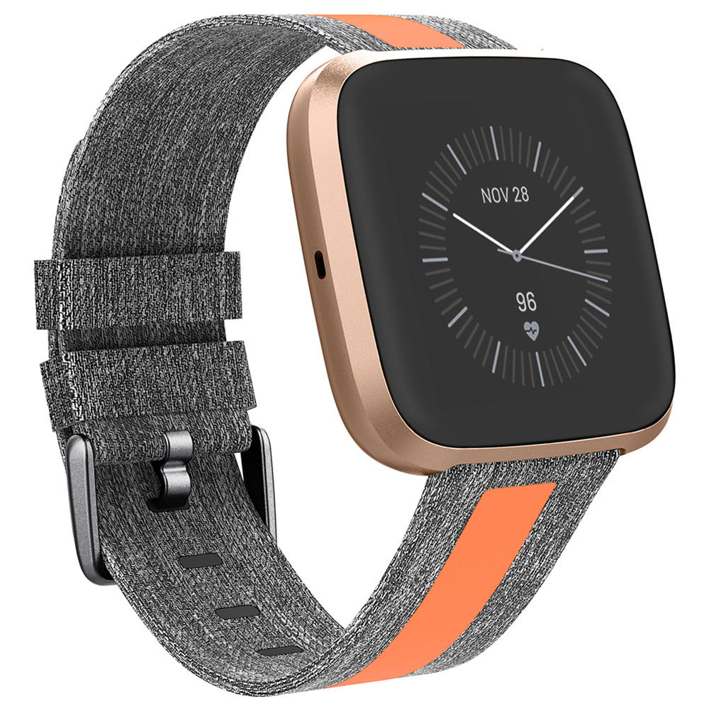 Durable Canvas Wrist Band Strap For Fitbit Versa/ Versa 2/ Versa Lite Smartwatch Replacement Sports Bracelet Watch Strap Bands
