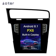 AOTSR Android 8.1 newest Tesla style HD screen Car GPS Navigation For Volkswagen Golf 7 2010-2018 WIFI Multimedia Player Radio(China)