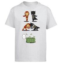 Iron Man Tony Stark Tshirt Men Batman Bruce Wayne T shirt Summer Tops Cotton Fus