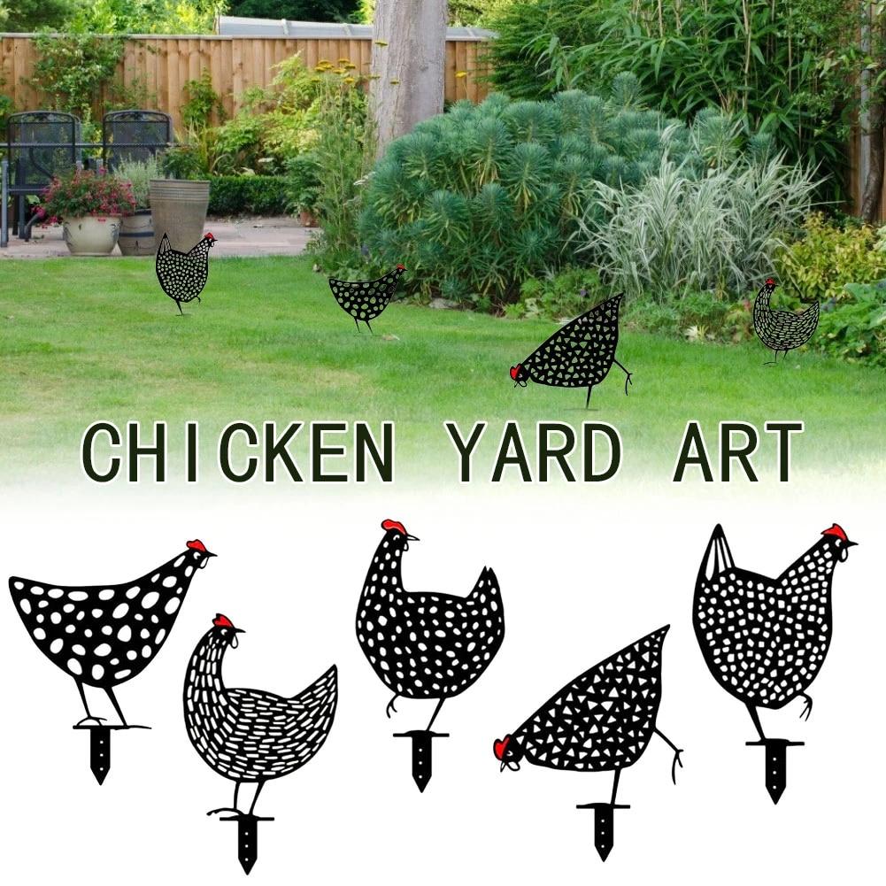 Easter Day Chicken Yard Art Garden Statue Decor 2021