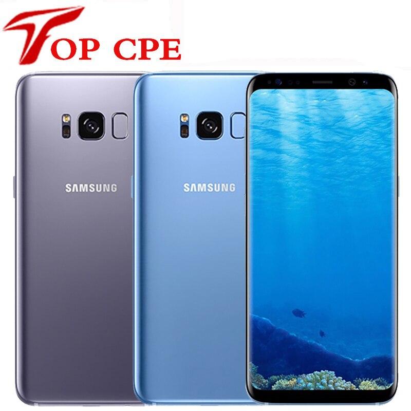 Samsung Galaxy S8 G950U G950F /S8 PLUS G955U G955F Оригинальный разблокированный 4 Гб RAM 64 Гб ROM одиночный Sim Восьмиядерный Android мобильный телефон