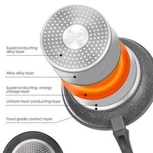 Image 3 - Frigideira de cobre antiaderente de 20 & 26 polegadas com revestimento cerâmico e indução de cozimento, forno e máquina de lavar louça segura