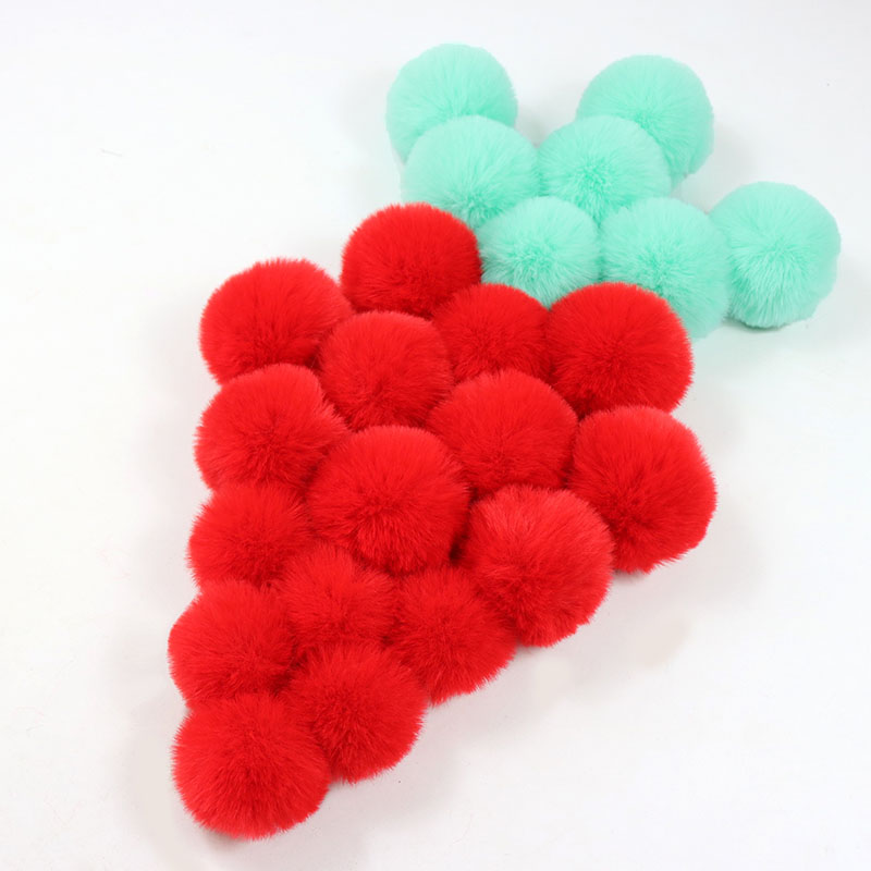 Fake Fur Ball Clothes Beanie Hats Craft Decoration Accessories PomPom 2PCS DIY Practical High quality New Hot Sale