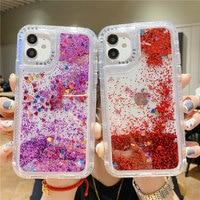 Funda de teléfono transparente con purpurina brillante a prueba de golpes para iPhone 13, 11, 12 Pro Max, 12 Mini, XR, XS Max, X, 7, 8 Plus