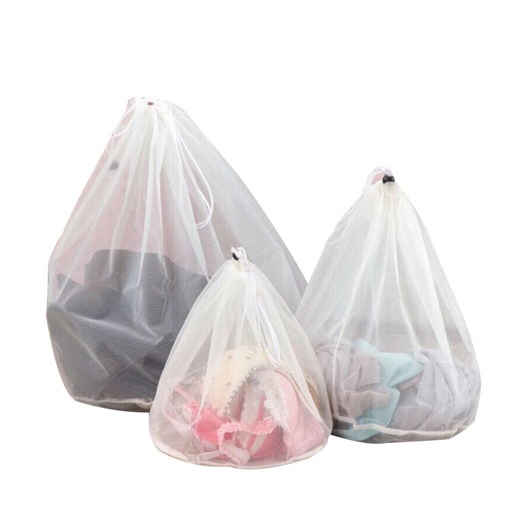 3 Size Folding Washing Laundry Bag Clothing Care Protection Net Filter Underwear Bra Socks Underwear Washing Machine Clothes