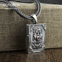 Thai Silver Cross Pendant Holy Bible 925 Sterling Silver Jewelry With Natural Red Garnet Stone Cleansing Metrosexual