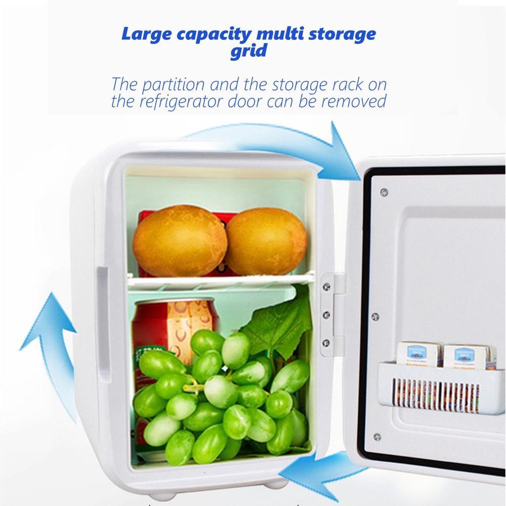 4L Car Refrigerator Mini Cold And Warm Small Refrigerator Car Home Dual-Use Small Dormitory Household Refrigerator