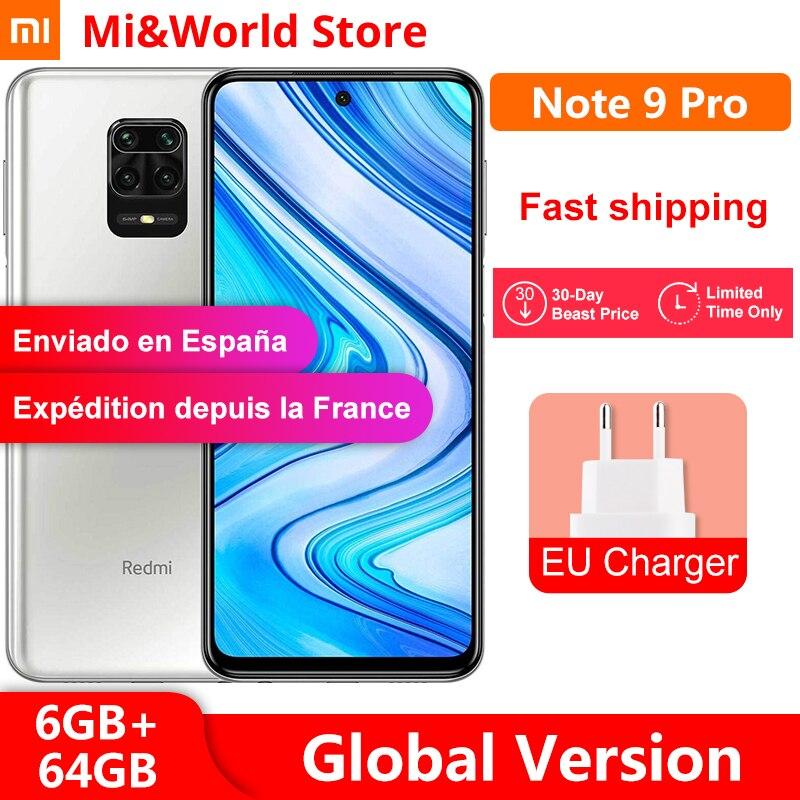 Newest ! Global Version Xiaomi Redmi Note 9 pro 6GB 64GB Smartphone Snapdragon 720G Octa Core 64MP Quad Cameras 5020mAh NFC(China)