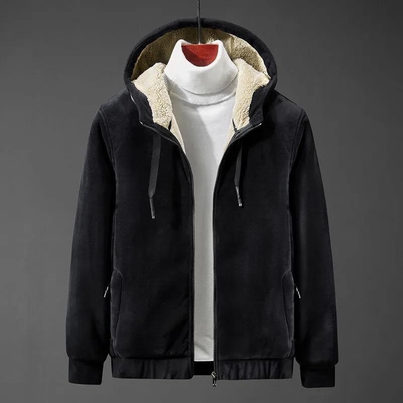 2020 Spring Autumn Plus Size Men's Hoodies Male Casual Fleece Thick Hoodies Sweatshirts Men's Solid Cashmere Hoodies M-8XL