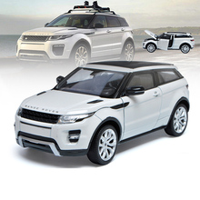 цена на Welly 1/124 1:24 Range Rover Evoque SUV Off Road Vehicle Car Diecast Display Model Birthday Toy For Kids Boys Girls