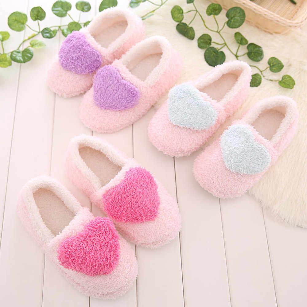 Zapatillas para el hogar de mujer de invierno con piel sintética de moda Zapatos de abrigo de mujer Slip on Flats mujeres deslizantes negro Rosa Plus tamaño tamaño 42 916