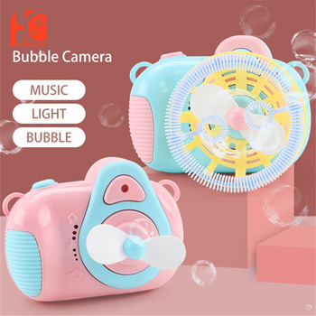 Children Bubble Maker Camera Automatic Funny Cute Soap Bath Wrap Kids Summer Toys Gifts for and Girls