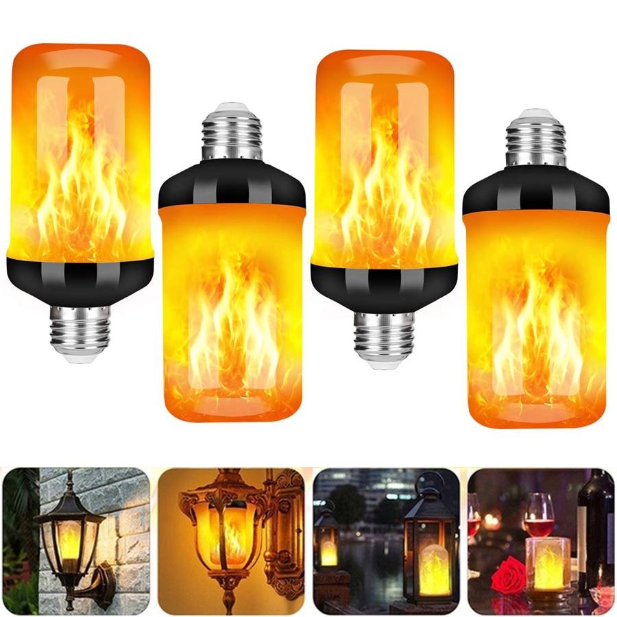 Flame Light Bulbs, E27 Base LED Flame Effect Light, Flickering Fire Lamp Bulbs, Indoor Outdoor Decorative Lights Garden Party